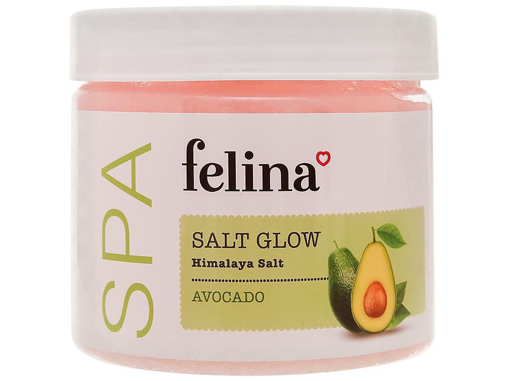 Muối tắm Felina tẩy tế bào chết chiết xuất bơ 500g 1