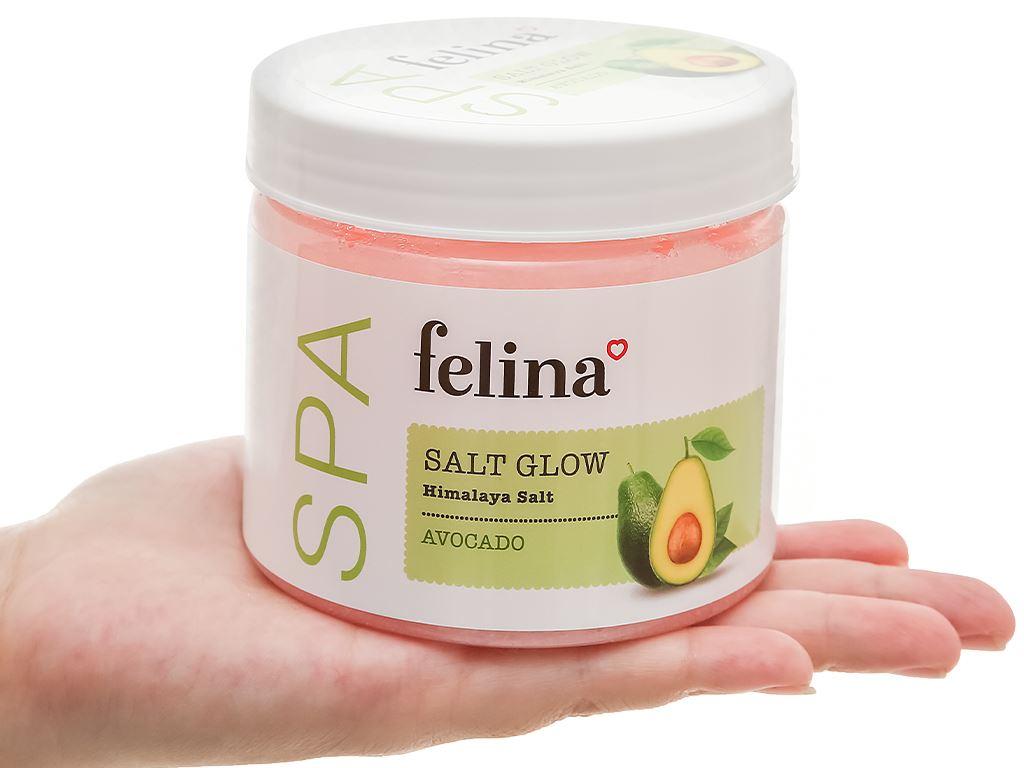Muối tắm Felina tẩy tế bào chết chiết xuất bơ 500g 5