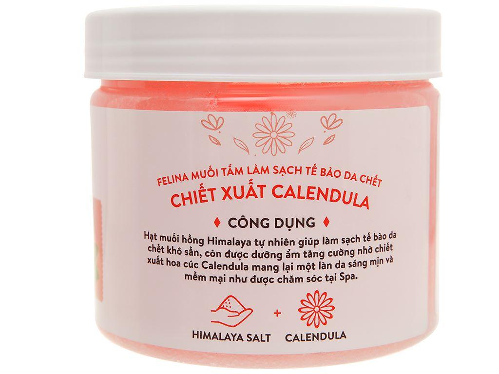 Muối tắm Felina tẩy tế bào chết chiết xuất calendula 500g 2