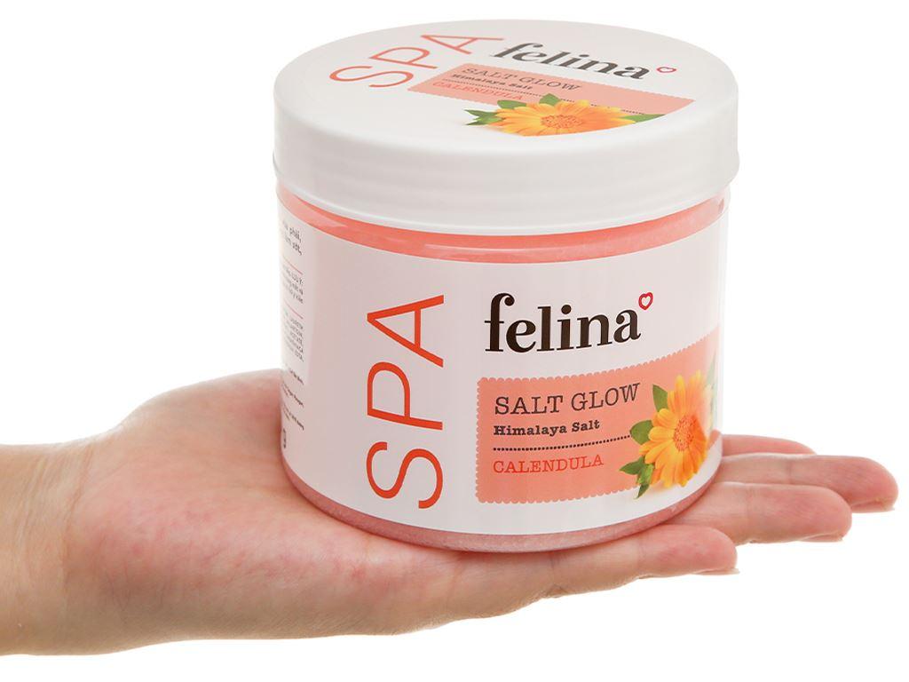 Muối tắm Felina tẩy tế bào chết chiết xuất calendula 500g 5