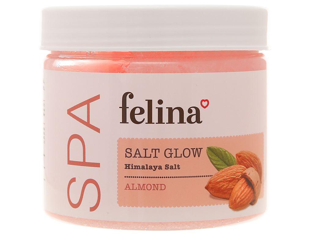 Muối tắm Felina tẩy tế bào chết dầu hạnh nhân 500g 1