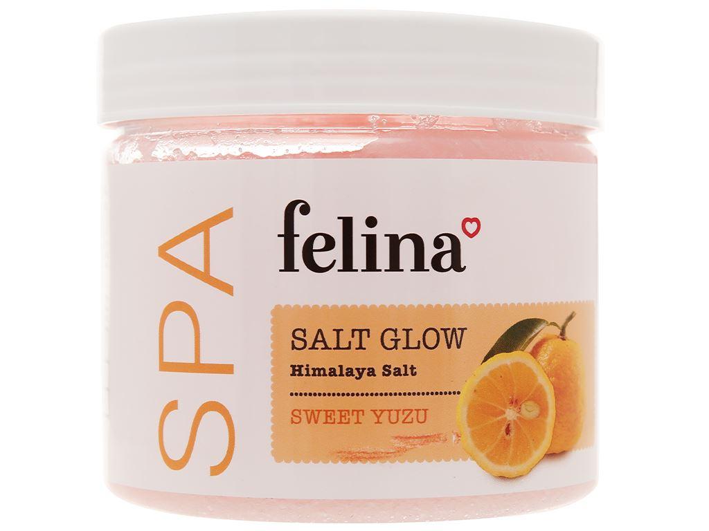 Muối tắm Felina tẩy tế bào chết chiết xuất cam yuzu 500g 1