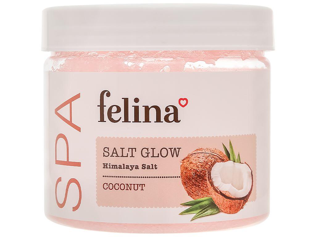 Muối tắm Felina tẩy tế bào chết dầu dừa 500g 1
