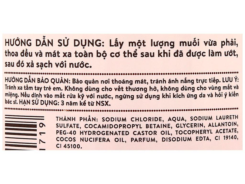 Muối tắm Felina tẩy tế bào chết dầu dừa 500g 3