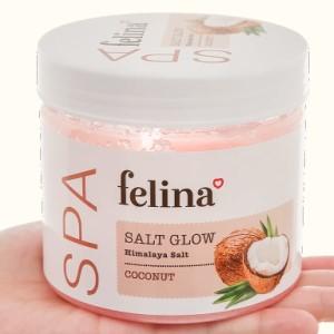 Muối tắm Felina tẩy tế bào chết dầu dừa 500g