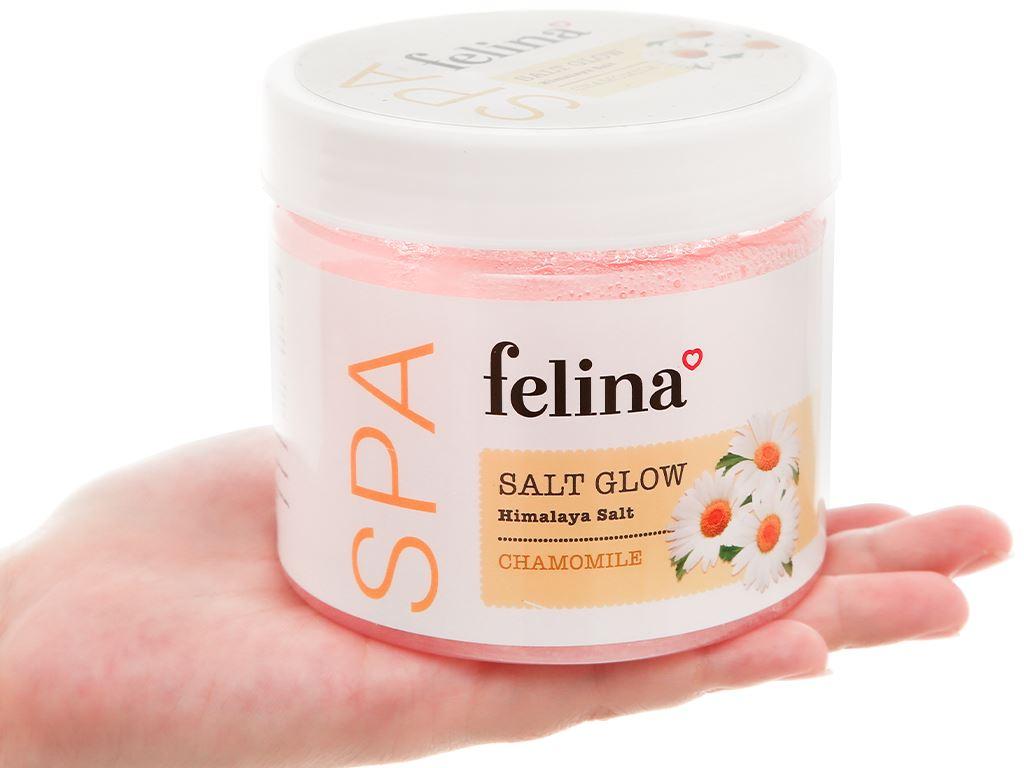 Muối tắm Felina tẩy tế bào chết chiết xuất cúc la mã 500g 6