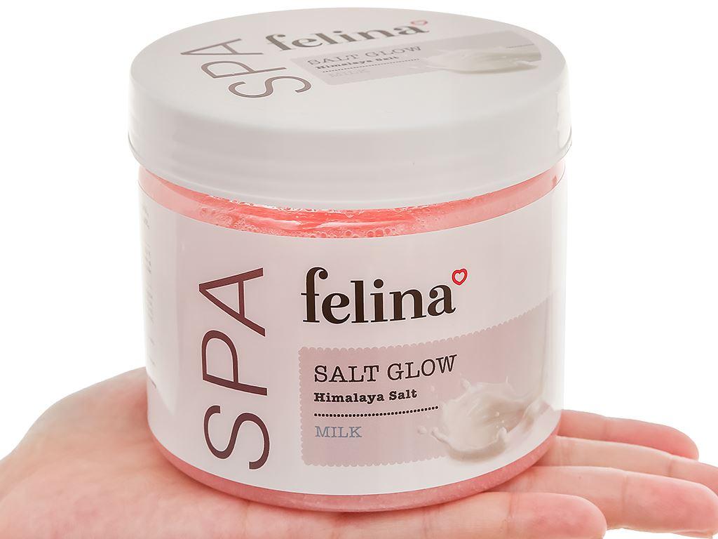 Muối tắm Felina tẩy tế bào chết tinh chất sữa 500g 5