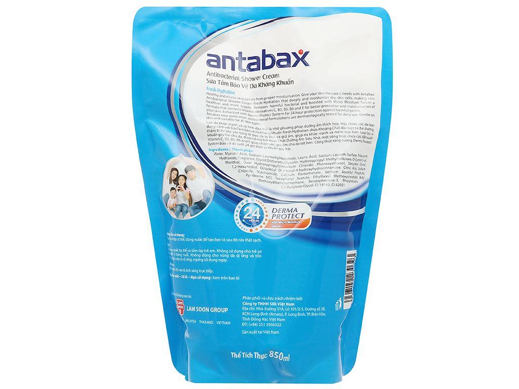 Sữa tắm Antabax sảng khoái (Fresh Hydration) túi 850ml 2