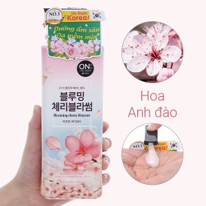 Sữa tắm ON THE BODY Blooming Cherry Blossom Floral 500g