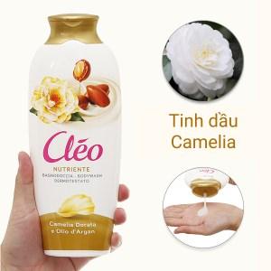 Sữa tắm nước hoa dưỡng da Cléo Camelia Argan chai 400ml