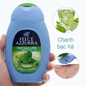 Sữa tắm nước hoa Felce Azzurra chanh bạc hà 250ml