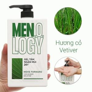 Gel tắm ngăn mùi 24 giờ MEN.O.LOGY Move Forward 630ml