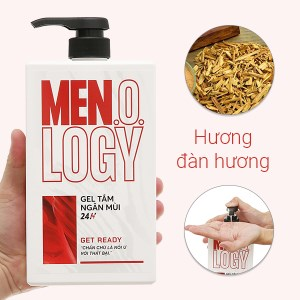 Gel tắm ngăn mùi 24 giờ MEN.O.LOGY Get Ready 630ml