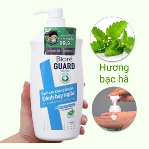 Sữa tắm sạch sâu kháng khuẩn Bioré mát lạnh sảng khoái 800g