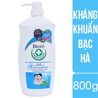 Sữa tắm kháng khuẩn Biore hương Bạc hà chai 800g