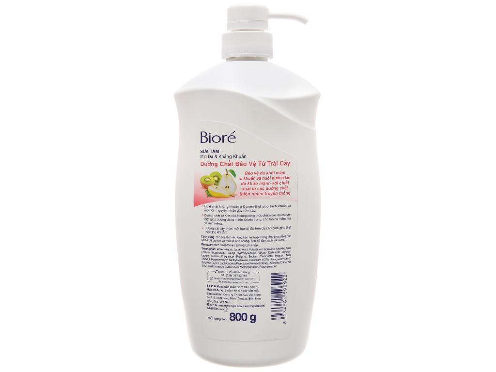 Sữa tắm Bioré dưỡng chất bảo vệ từ trái cây 800g 3