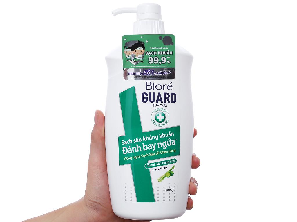 Sữa tắm sạch sâu kháng khuẩn Bioré sả và bưởi 800g 3
