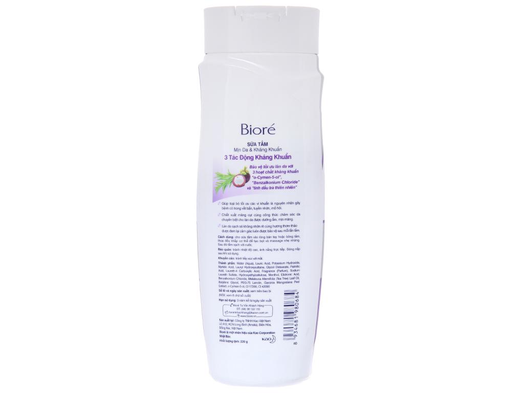 Sữa tắm Biore 3 tác động kháng khuẩn 220g 3