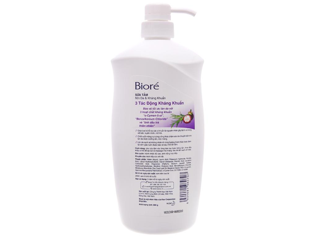 Sữa tắm Biore 3 tác động kháng khuẩn 800g 3