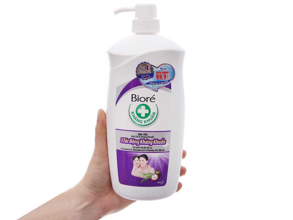 Sữa tắm Biore 3 tác động kháng khuẩn 800g 4