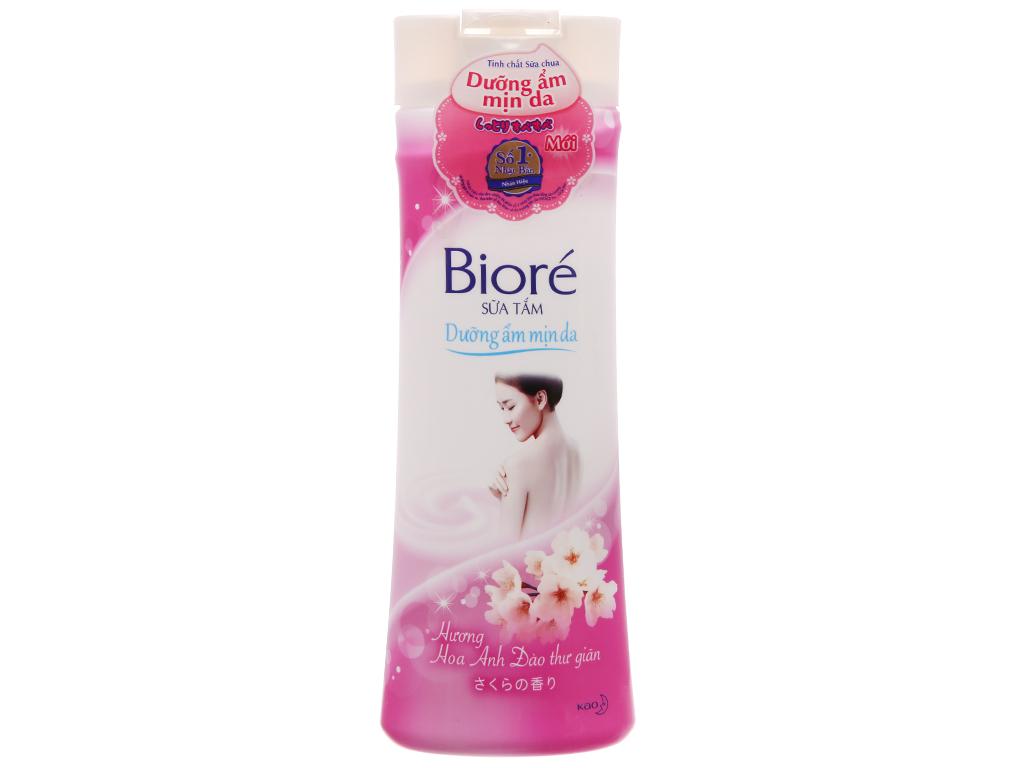 Sữa tắm Biore dưỡng ẩm mịn da hương hoa anh đào 200g 2