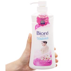 Sữa tắm dưỡng ẩm mịn da Bioré hương hoa anh đào 530g