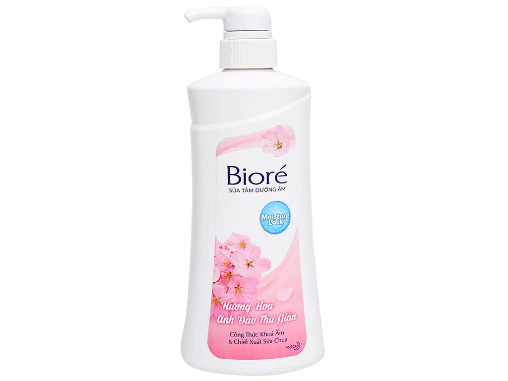 Sữa tắm dưỡng ẩm mịn da Bioré hương hoa anh đào 530g 5