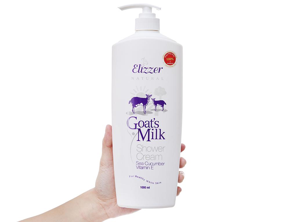 Sữa tắm Elizzer Natural tinh chất sữa dê 1 lít 4