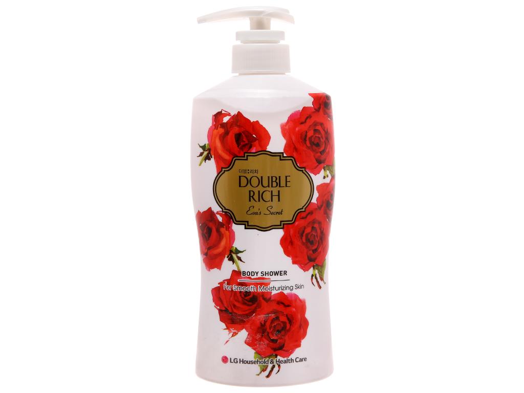 Sữa tắm Double Rich hoa hồng quyến rũ 550g 2