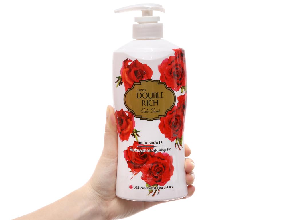 Sữa tắm hoa hồng Double Rich Eva's Secret 550g 4