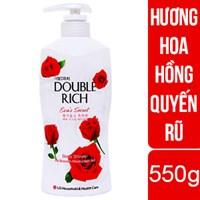 Sữa tắm dưỡng ẩm Double Rich hương Hoa hồng chai 550g