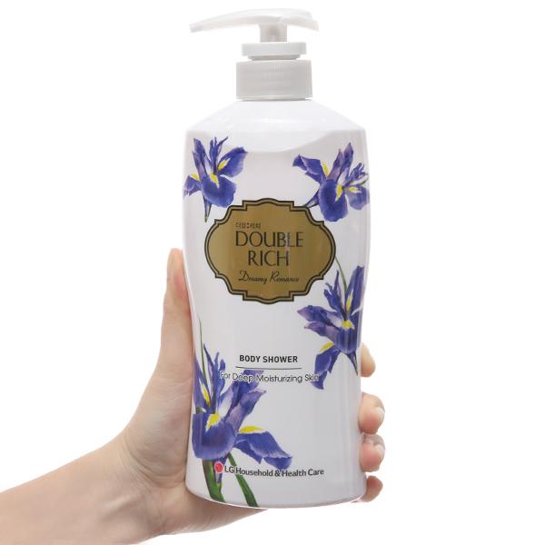Sữa tắm Double Rich hoa iris huyền bí 550g