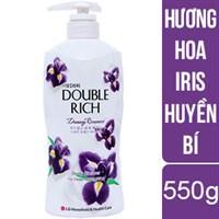 Sữa tắm dưỡng ẩm Double Rich hương Hoa Iris chai 550g