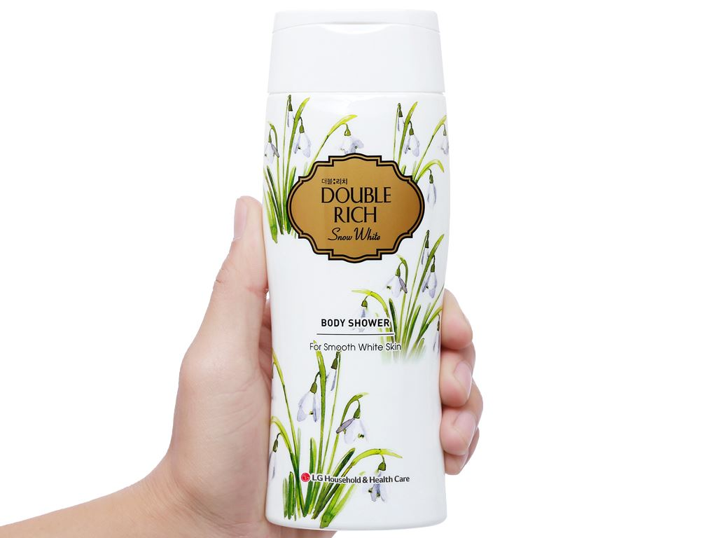 Sữa tắm hoa xuyên tuyết trắng mịn Double Rich Snow White 200g 4