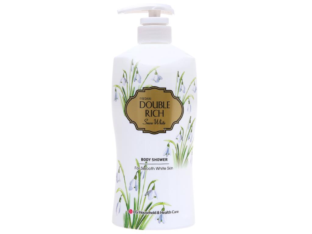 Sữa tắm hoa xuyên tuyết trắng mịn Double Rich Snow White 550g 2