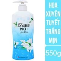 Sữa tắm sáng da Double Rich hương Hoa xuyên tuyết chai 550g