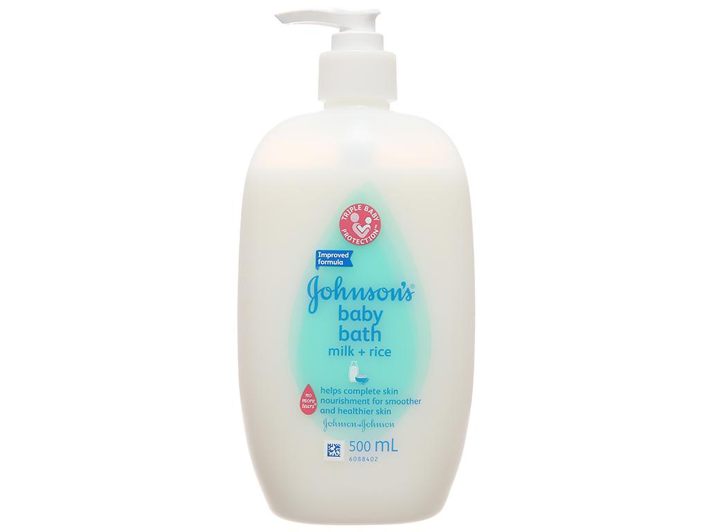 Sữa tắm Johnson's Baby chứa sữa và gạo 500ml 2