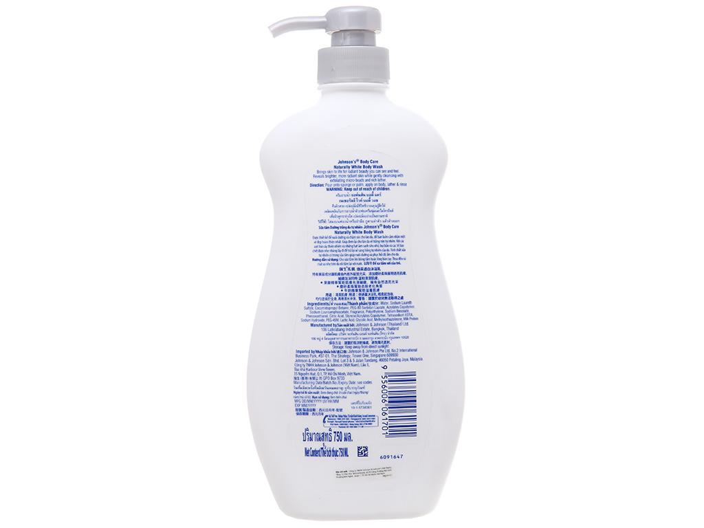 Sữa tắm Johnson's dưỡng trắng da tự nhiên 750ml 3