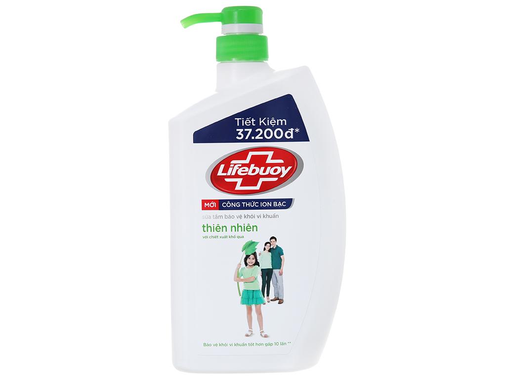 Sữa tắm bảo vệ khỏi vi khuẩn Lifebuoy thiên nhiên 833ml 2