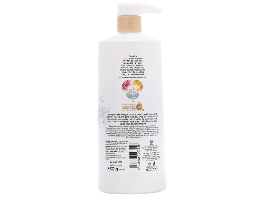 Sữa tắm sáng mịn Lux White Impress 530g 3