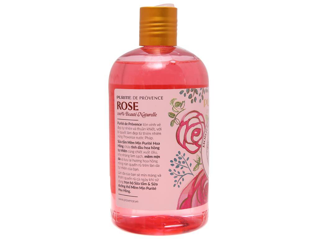 Sữa tắm mềm mịn Purité hoa hồng 500ml 3
