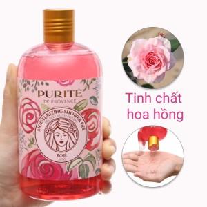 Sữa tắm mềm mịn Purité hoa hồng 500ml