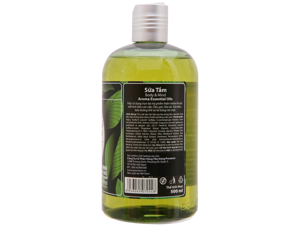 Sữa tắm Purité by Provence body & mind 500ml 3