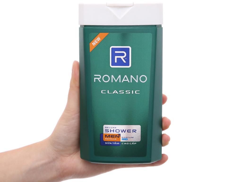 Sữa tắm Romano Classic 380g 4