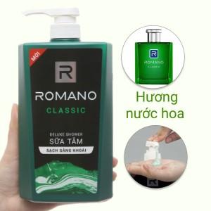 Sữa tắm nước hoa Romano Classic sạch sảng khoái 650g