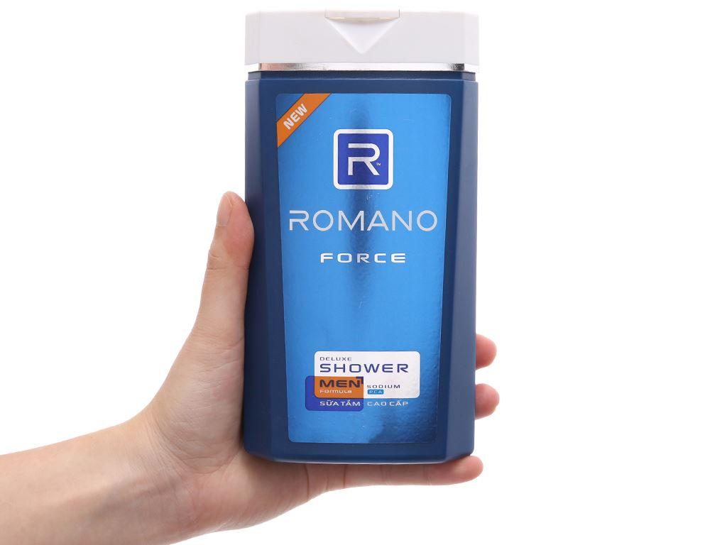Sữa tắm Romano Force cao cấp 380g 4