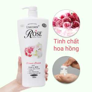 Sữa tắm trắng da Unicorn Rose tinh chất hoa hồng 1.2 lít