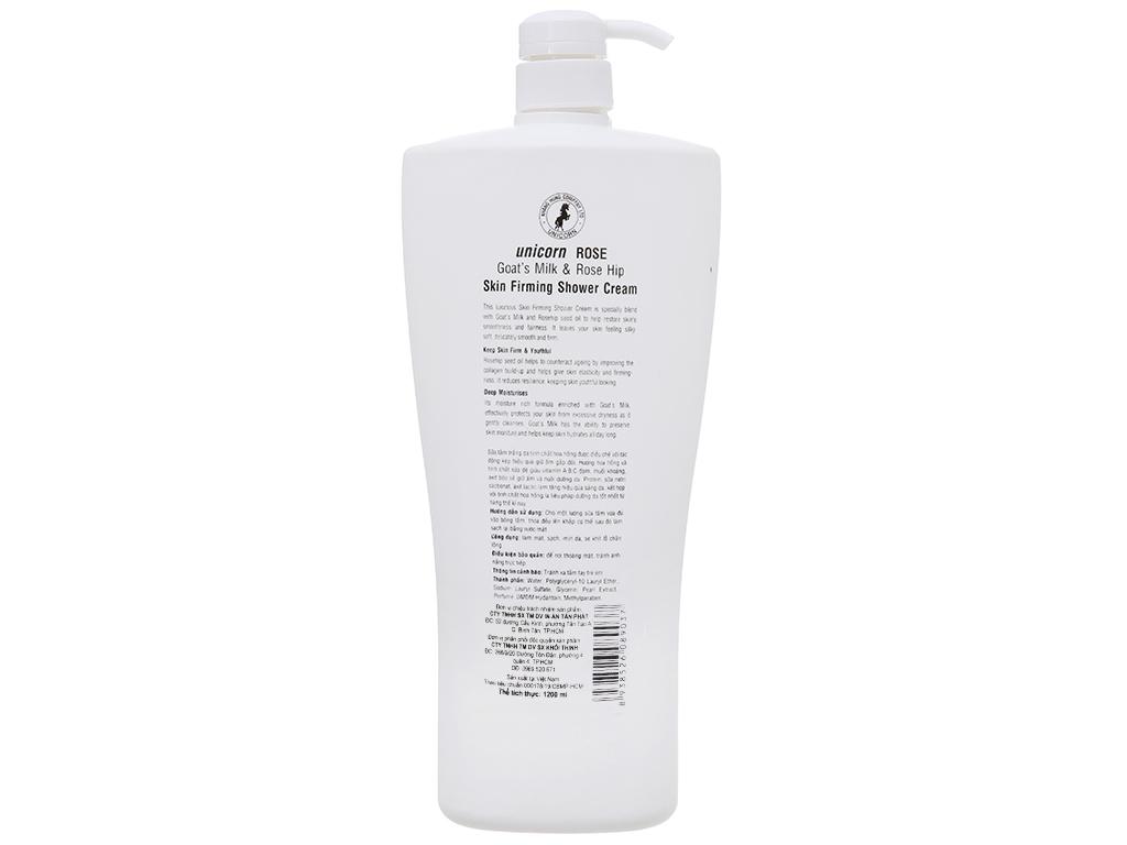 Sữa tắm trắng da Unicorn Rose tinh chất hoa hồng 1.2 lít 3