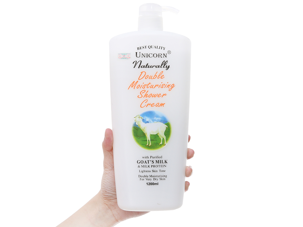 Sữa tắm Unicorn Naturally tinh chất sữa dê 1.2 lít 4