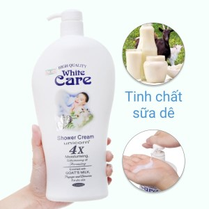 Sữa tắm Unicorn White Care tinh chất sữa dê 1.2 lít